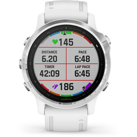 Garmin Fenix 6S Reloj Inteligente, white/silver
